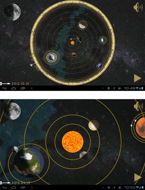 COPERNICAN ORRERY - aplicativo para astronomia