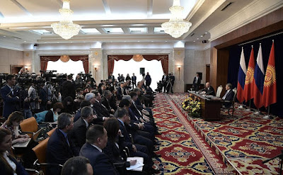 Journalists, press, Putin, Atambayev.