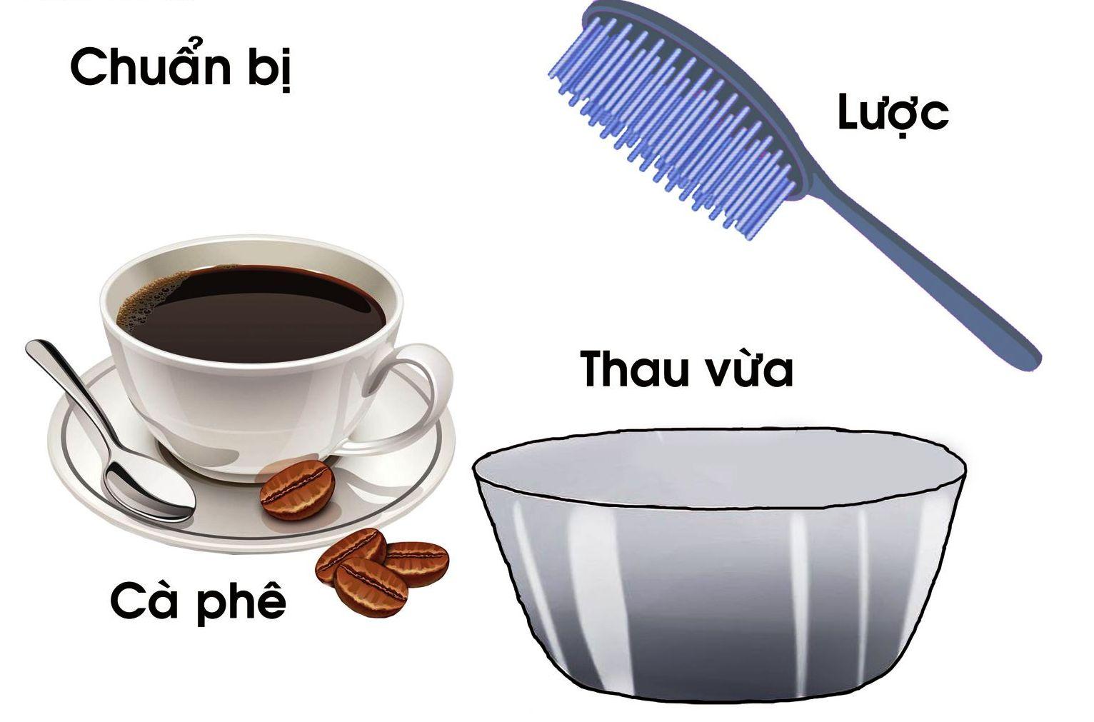 Nhuộm tóc tự nhiên bằng cà phê & lá móng