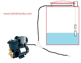 Cara Kerja mekanisme switch otomatis jenis Level Control Switch (saklar dalam penampungan) dan cara memasangnya