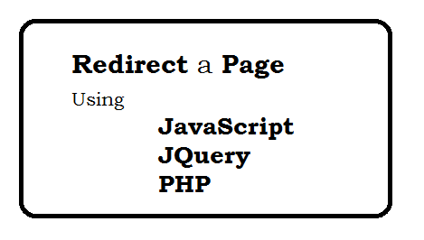 How can I make a redirect page using javascript jQuery PHP and htaccess