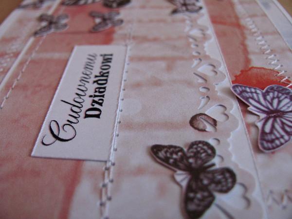 kartka dla dziadka handmade