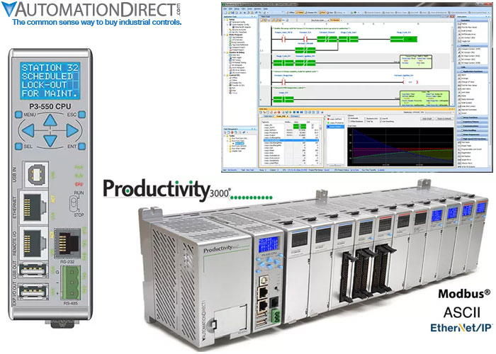 Advanced control from AutomationDirect built-in communication ports