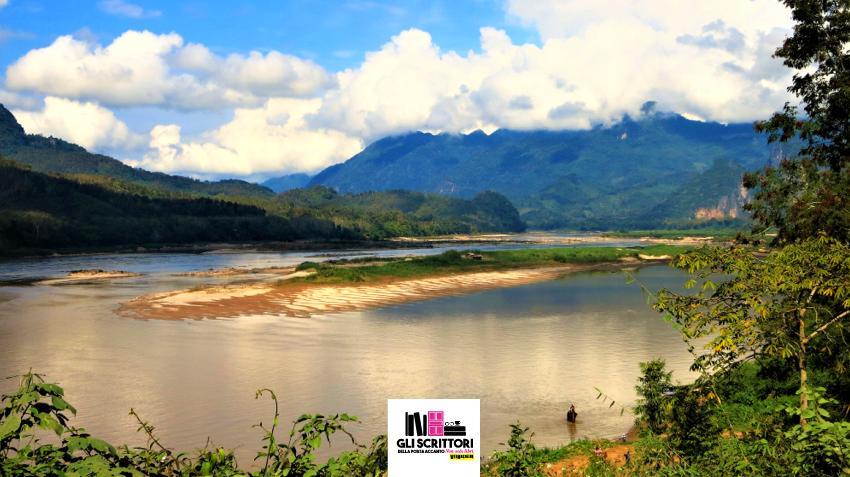 La lingua di terra tra il fiume Mekong e il Nam Khan