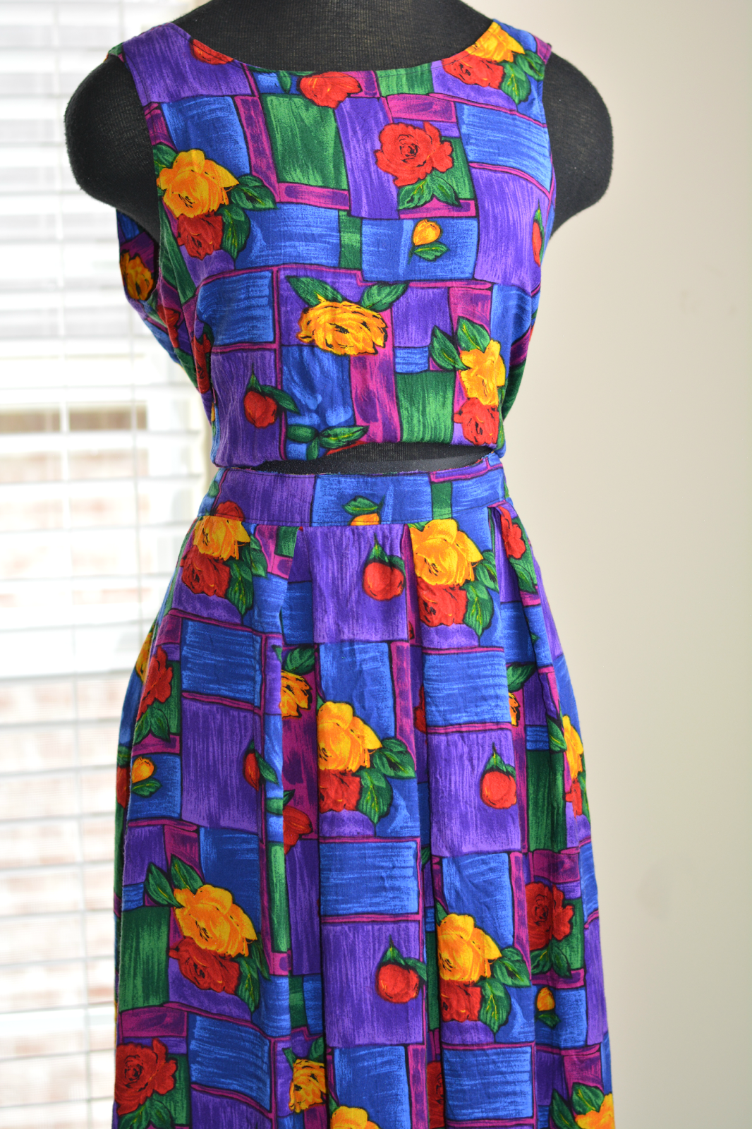 thrift store dress to skirt diy