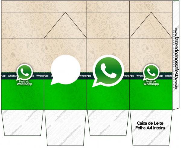 """Caja tipo """"de leche"""" de WhatsApp."""