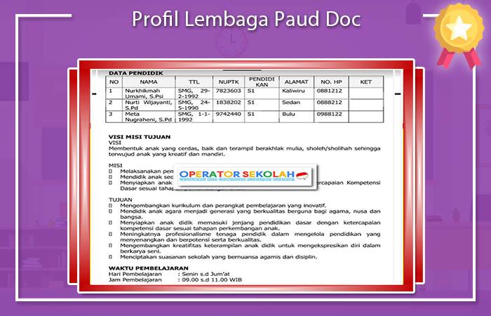 Profil Lembaga Paud Doc
