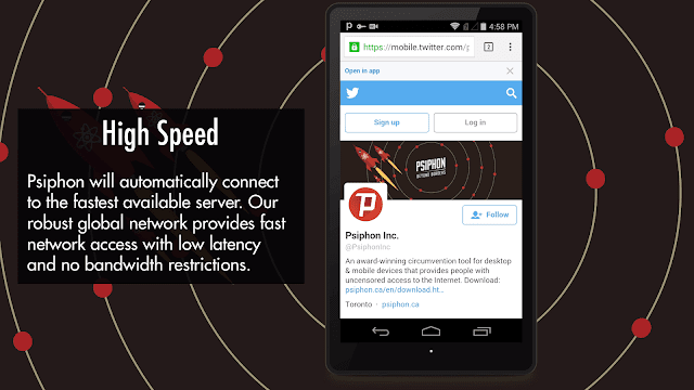 Psiphon settings