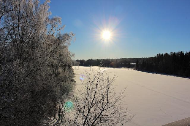 #vinter #snö #frost #hälsingland #sol #ljusnan