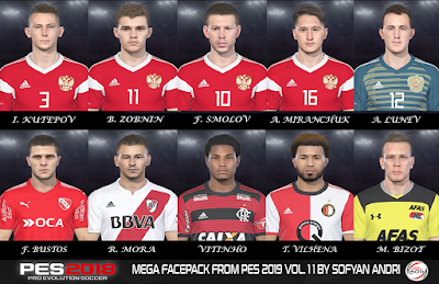 PES 2018 Mega Facepack From PES 2019 Vol. 11 By Sofyan Andri