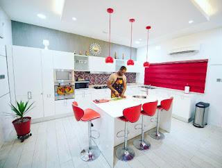 P square, celebrity, Peter okoye kitchen