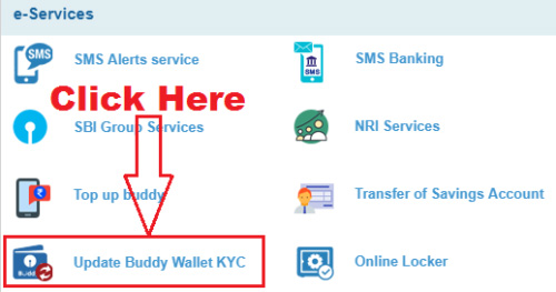 how to upgrade sbi buddy wallet through sbi internet banking