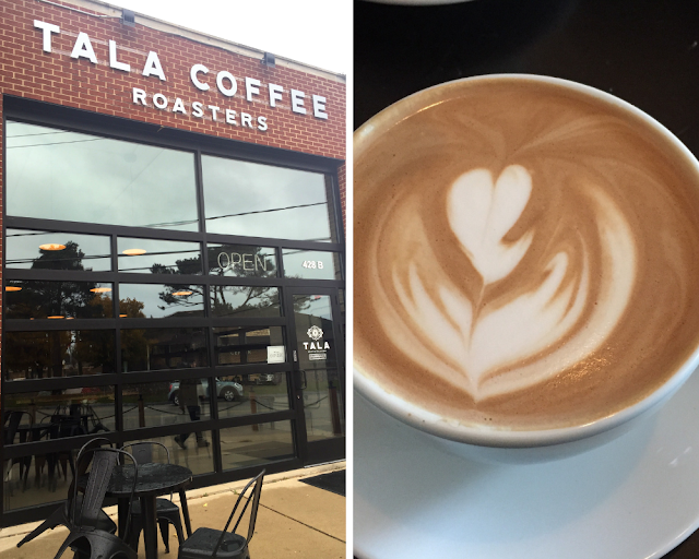 Locally roasted coffee at Tala Coffee Roasters in Highwood, Illinois