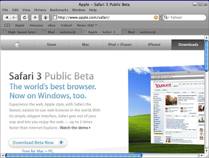 safari browser windows 10