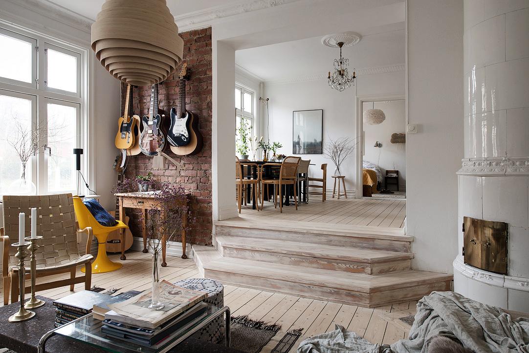 Amenajare eclectică într-un apartament de 75 m²