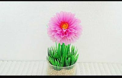 Cara Membuat Bunga Dahlia Dari Sedotan Lengkap Beserta Gambarnya