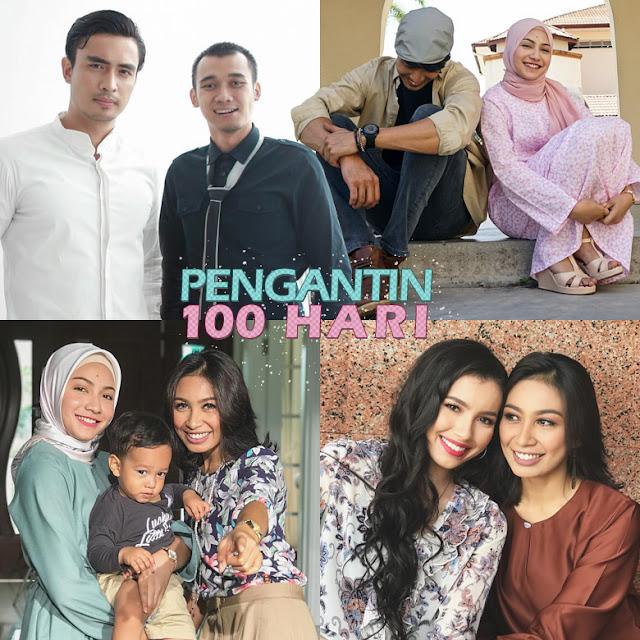 Drama Pengantin 100 Hari Lakonan Aiman Hakim, Aishah Azman, Amelia Henderson