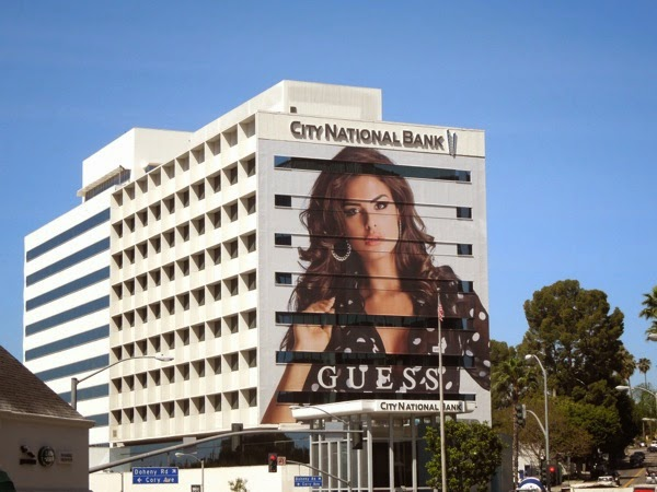 Giant Guess Summer 2014 billboard Sunset Strip