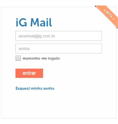 Como criar um e-mail da IG grátis