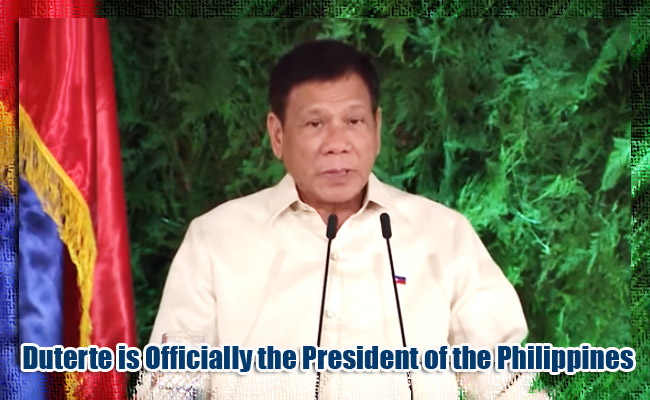 Duterte is Officially the President of the Philippines