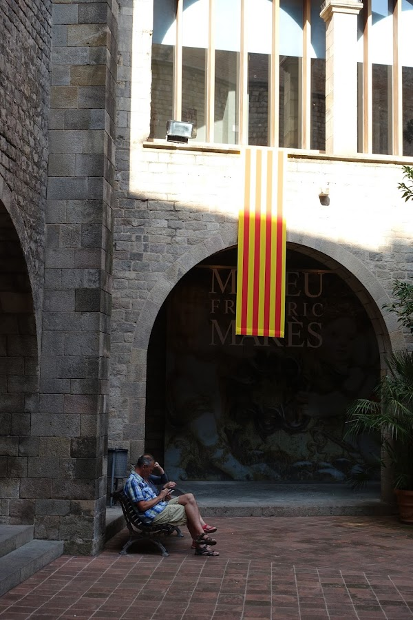 フレデリック・マレー美術館(Museu Frederic Marès)の中庭