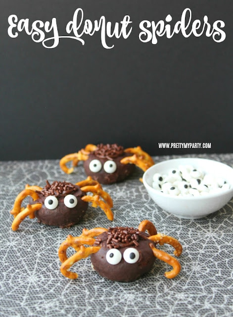 easy donut spiders