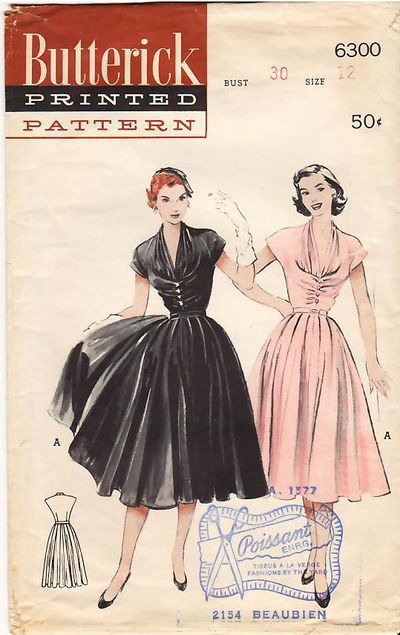 1952 Butterick Dress Pattern
