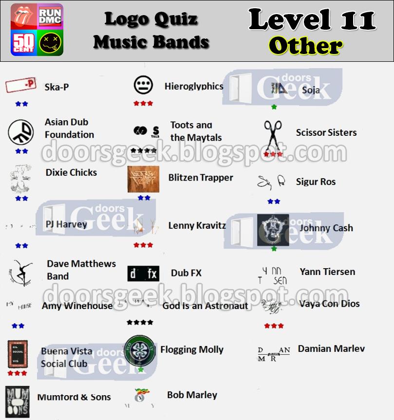 logo quiz music bands level 11 classic rock doors geek