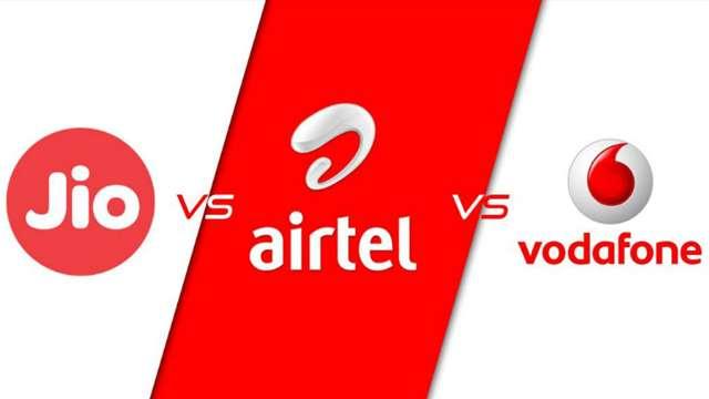 Jio vs Airtel vs Vodafone