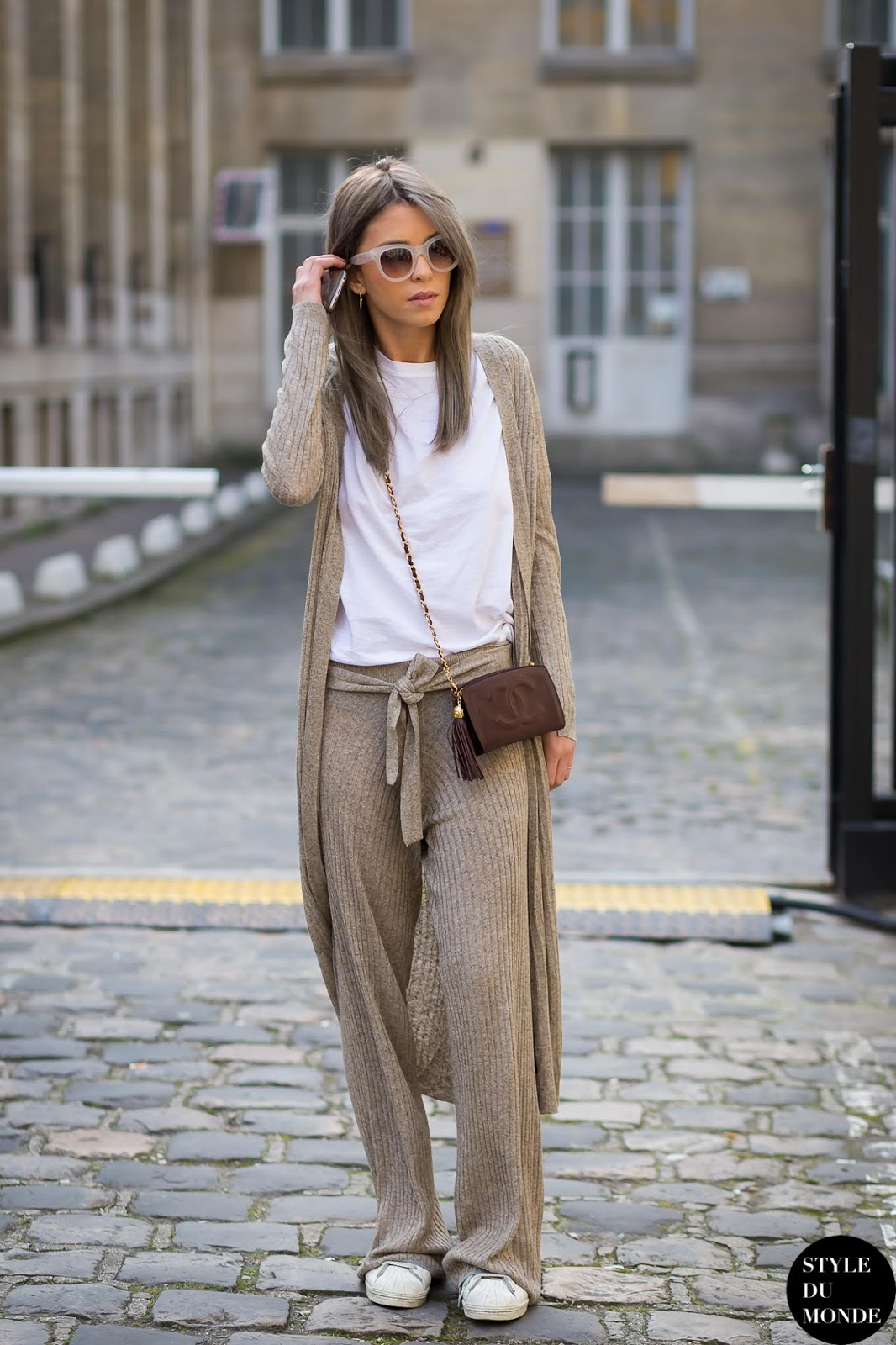 We're Obsessed With This Luxe Loungewear Look