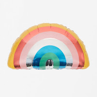ballon mylar arc en ciel my little day