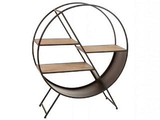 mueble estantes redondos estilo industrial