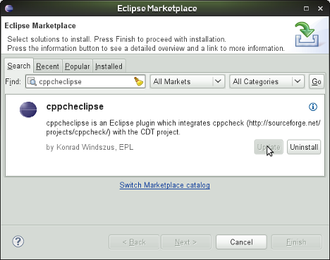 Garajeando: How to install cppcheck and use it in Eclipse CDT