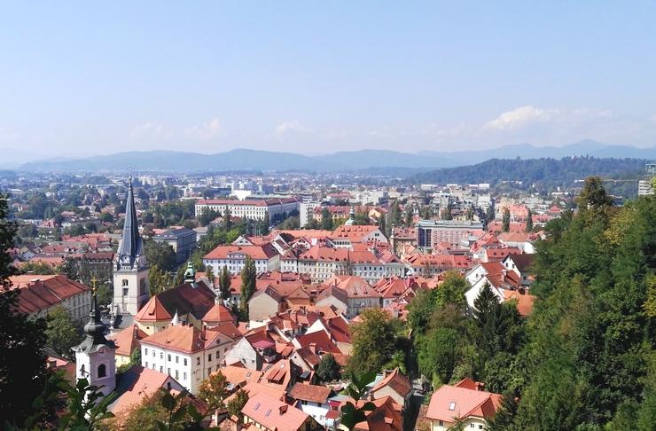vue depuis chateau ljubljana