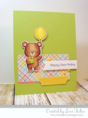 Happy Bear-thday card-designed by Lori Tecler/Inking Aloud-stamps and dies from My Favorite Things