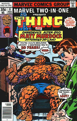 Marvel Two-In-One #37, the Thing and Matt Murdock