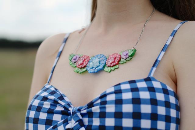 Erstwilder Harmonious Hydrangea necklace