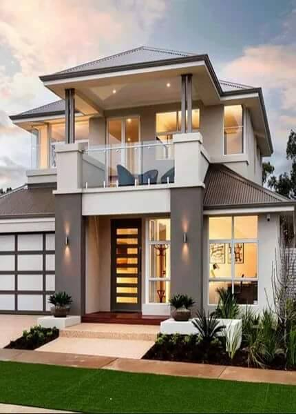 20 images of beautiful two story houses bahay ofw for Two story model homes