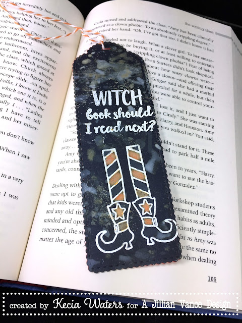 AJVD, Kecia Waters, Distress Oxide, Halloween, bookmark