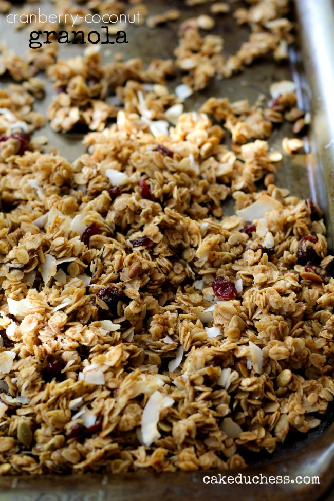 Cranberry-Coconut Granola