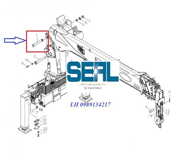 Chốt liên kết trụ cẩu với cần SS1406 Hàn Quốc