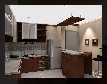 Gambar interior ruang dapur  sederhana yang bagus