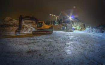 Wallpaper: Hard Work Development Site Volvo Excavator