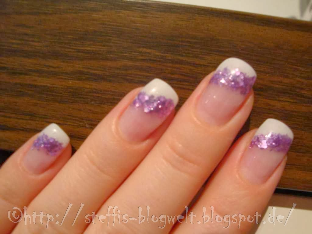 Nägel Bilder Nageldesign French Weiß Muster