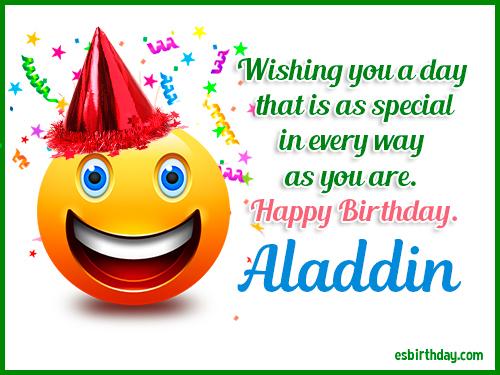 Happy Birthday Aladdin Happy Birthday Images For Name