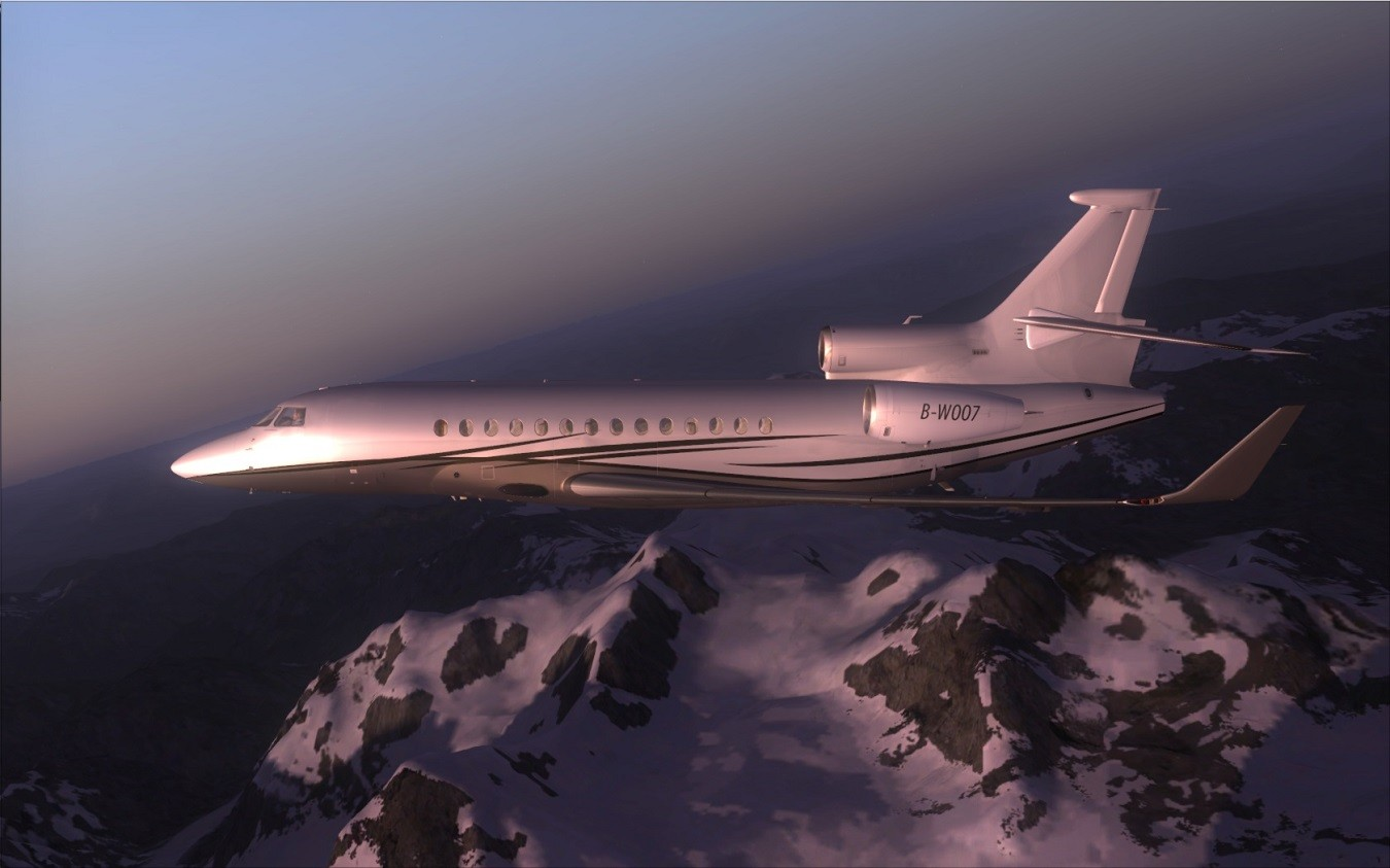 South West Flight Simulation: Wilco Falcon 7X: Impressive!