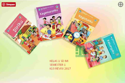Download RPP Semester 1 Tema 2 Kelas 1 SD/ MI Tematik K13 Revisi 2017