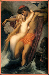 The Fisherman and the Syren, por Frederic Leighton.