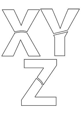Moldes de Letras XYZ