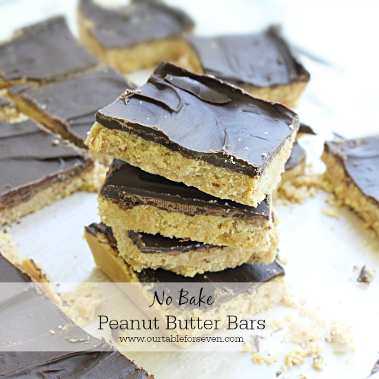 No Bake Peanut Butter Bars from Table for Seven